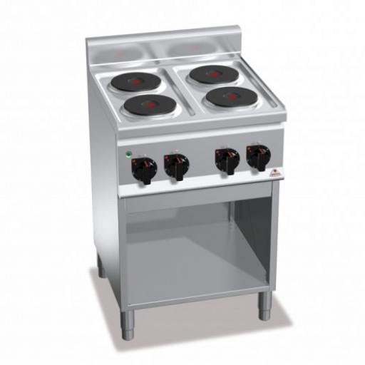 Плита 4-х конфорочная напольная без духовки E6P4M