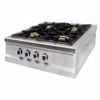 Плита 4-х конфорочная настольная без духовки газовая М015-4N