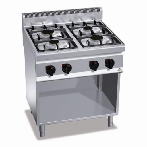 Плита 4-х конфорочная напольная без духовки газовая G7F4M