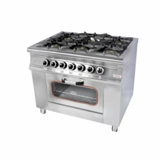 Плита 6-ти конфорочная с духовым шкафом газовая М015-6