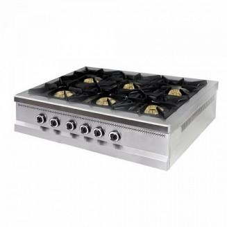 Плита 6-ти конфорочная настольная без духовки газовая М015-6N
