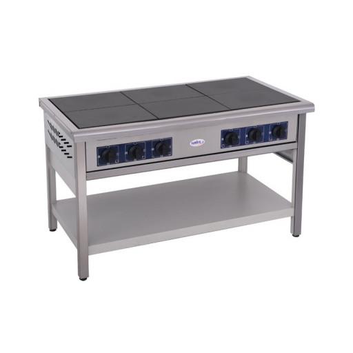 Плита 6-ти конфорочная напольная без духовки ПЕ-6