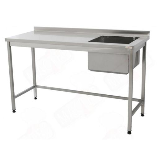 Стол производственный с мойкой 1700х600х850